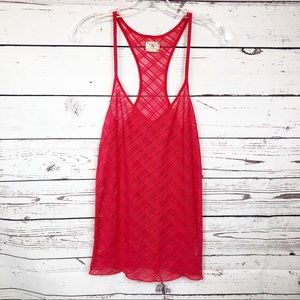 Intimately Free People Lace Red Racerback Cami
